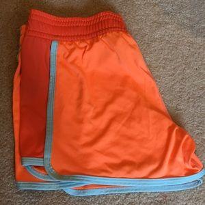 Nike Dri-Fit Neon Orange Shorts XS